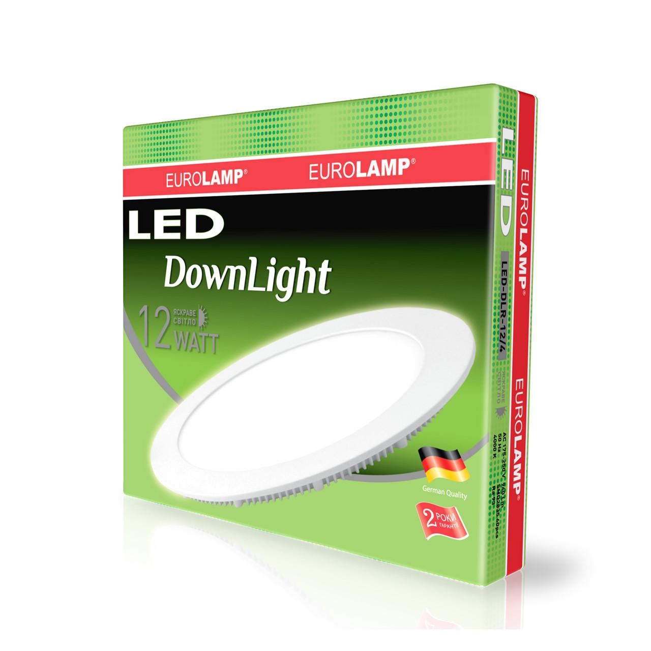 EUROLAMP LED Светильник круглый Downlight 12W 4000K 220V