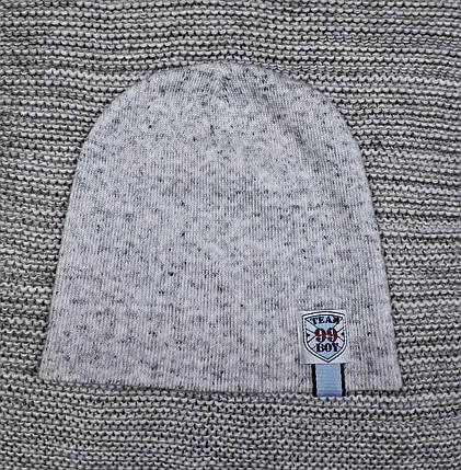 Шапка на мальчика весна-осень серый меланж ANPA (Польша) размер 46 48 50, фото 2