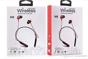 Наушники беспроводные M8 Sport (микрофон/Bluetooth)