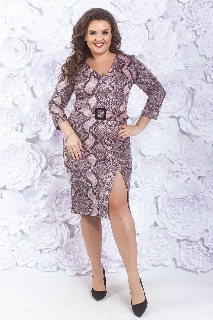 Модное платье с разрезом 44-52 р