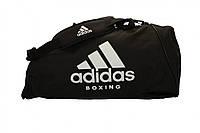 Сумка-рюкзак Adidas Boxing 56х29х29 см (ADIACC052B) Black/White, фото 1