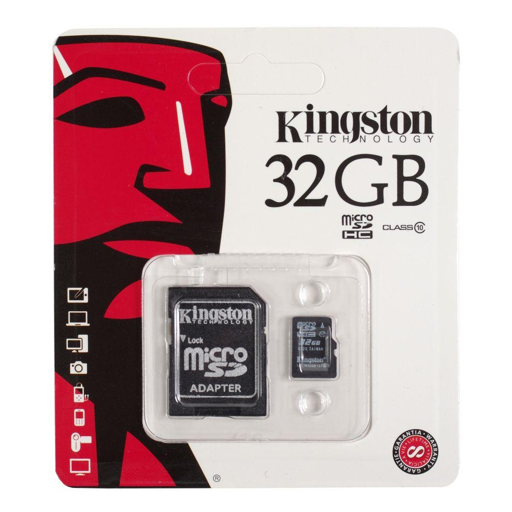 Карта памяти Kingston microSDHC 32Gb class 10 Canvas Select U1 (R80/W10) + Adapter