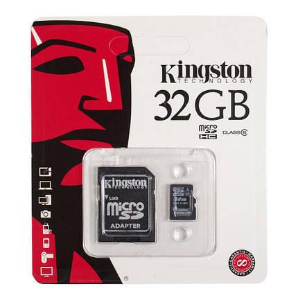 Карта памяти Kingston microSDHC 32Gb class 10 Canvas Select U1 (R80/W10) + Adapter, фото 2