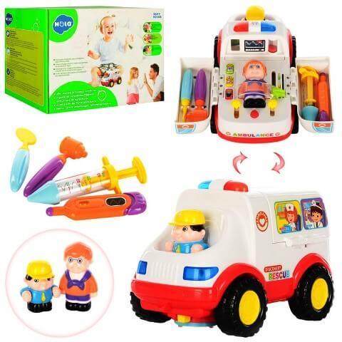 Музыкальная машинка Скорая помощь 836 HOLA (Huile Toys)