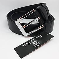 Мужской черный кожаный ремень Massimo Dutti чоловічий ремінь шкіряний чорний пояс