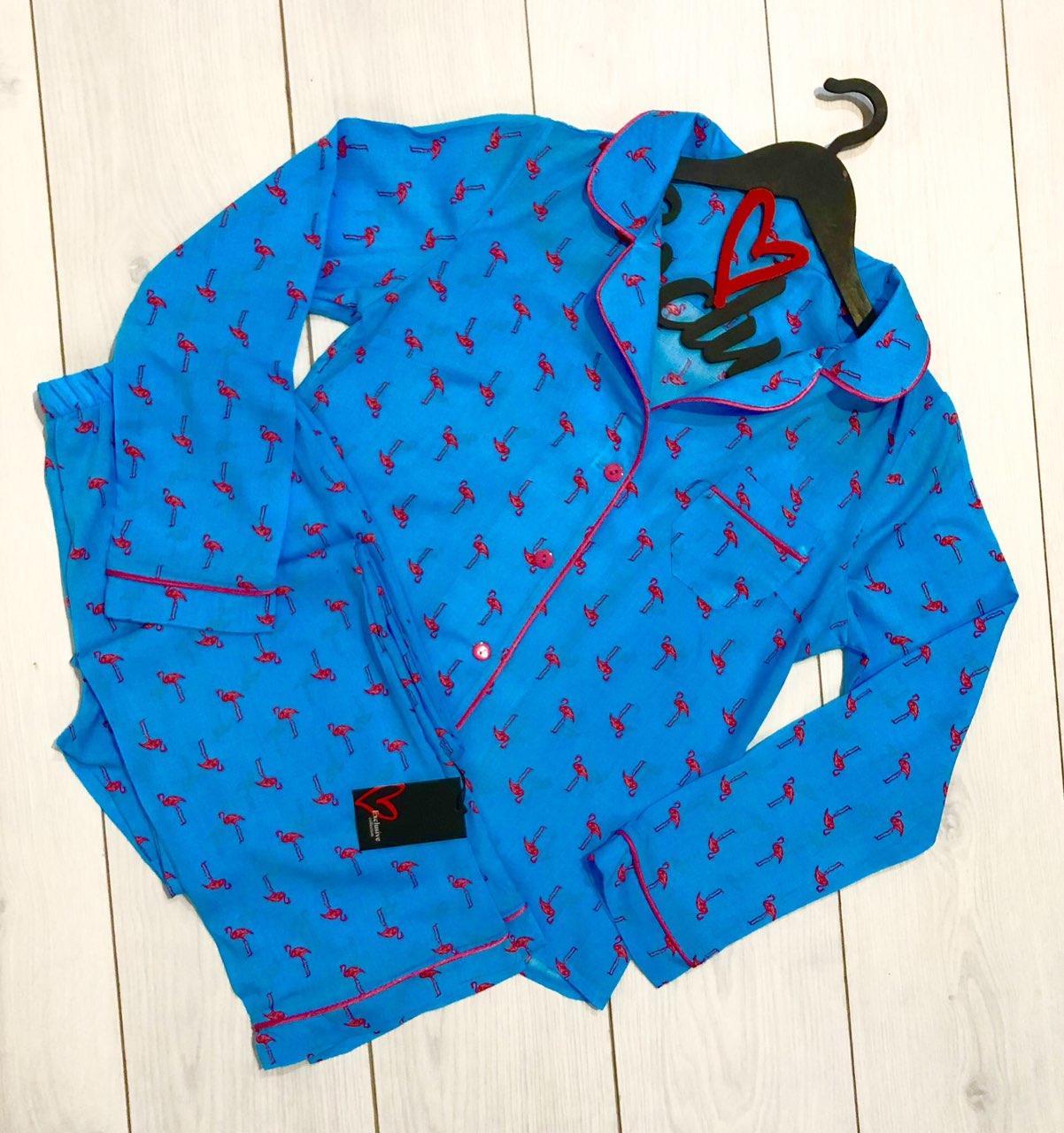 Пижама женская фламинго молодежная