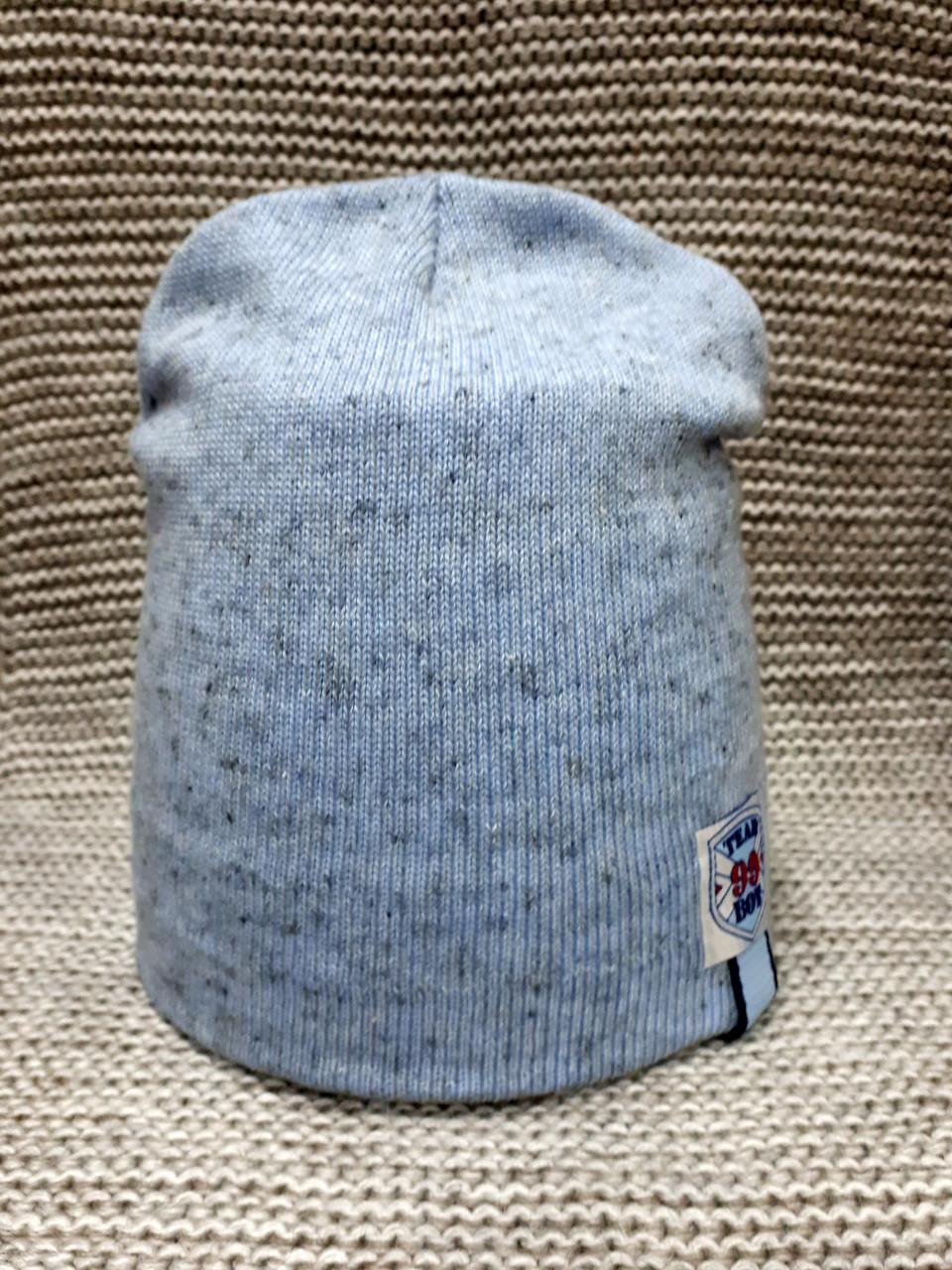 Шапка на мальчика весна-осень голубой меланж ANPA (Польша) размер 46 48 50