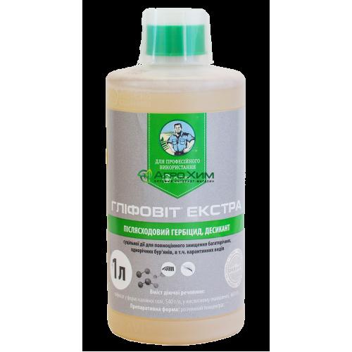 Глифовит Экстра, 1 л – гербицид сплошного действия
