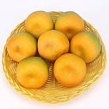 Штучний мандарин муляж зелений 8 см, фото 3