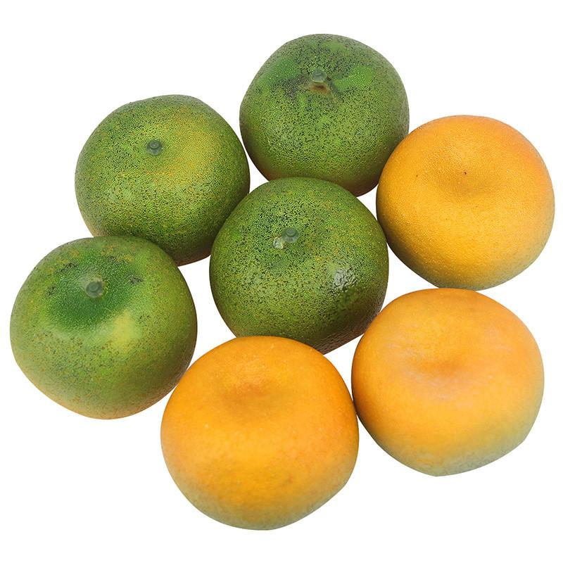 Штучний мандарин муляж зелений 8 см