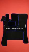 Авто ковры велюровые на резиновой основе VOLVO FH 12-16 2002- МКП cиние
