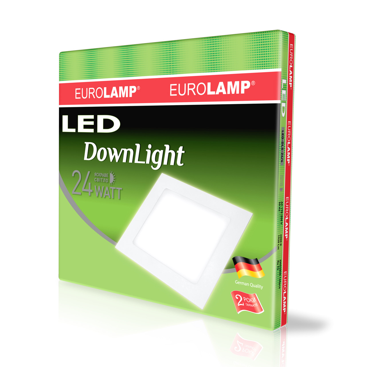 EUROLAMP LED Светильник квадратный Downlight 24W 4000K 220V