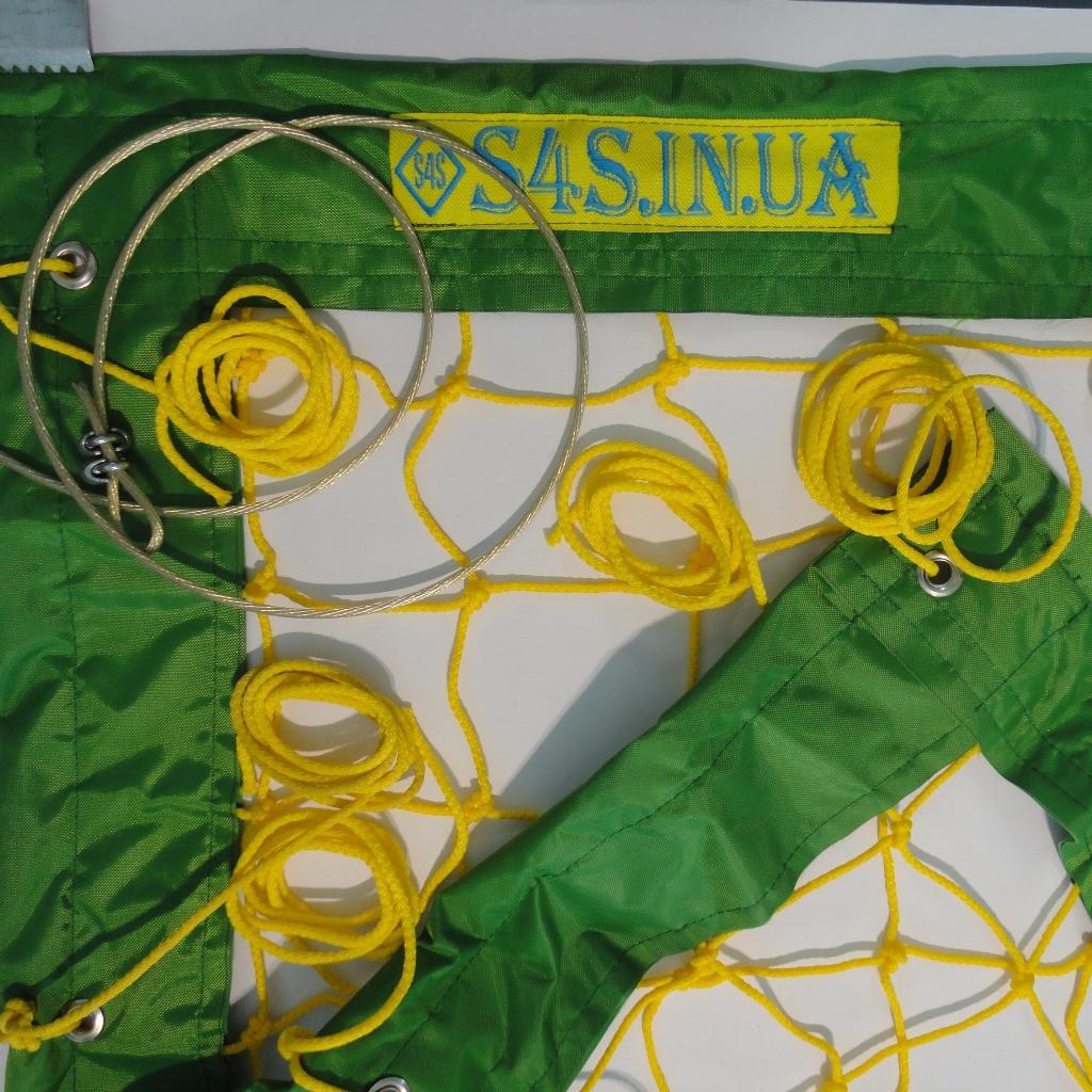 Сетка для пляжного волейбола «ЭЛИТ» желто-зеленая