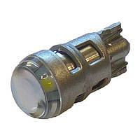 Лампа LED 12V T10 (W5W) 1SMD 3535 линза Osram 180Lm БЕЛЫЙ