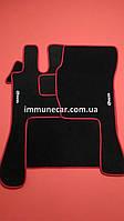 Авто ковры велюровые на резиновой основе VOLVO FH 2002- МКП красная