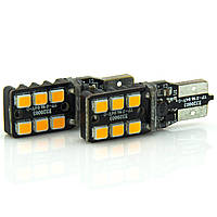 Лампа LED 12V T10 6SMD 2835 линза 220Lm БЕЛЫЙ, фото 1