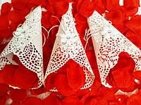 Кулёчек для лепестков роз Ажур (белый). Цена указана за 1 штуку.