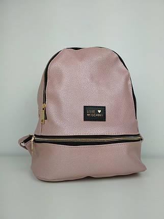 Молодежный рюкзак из кожзама для девушки 30*25*15 см, фото 2