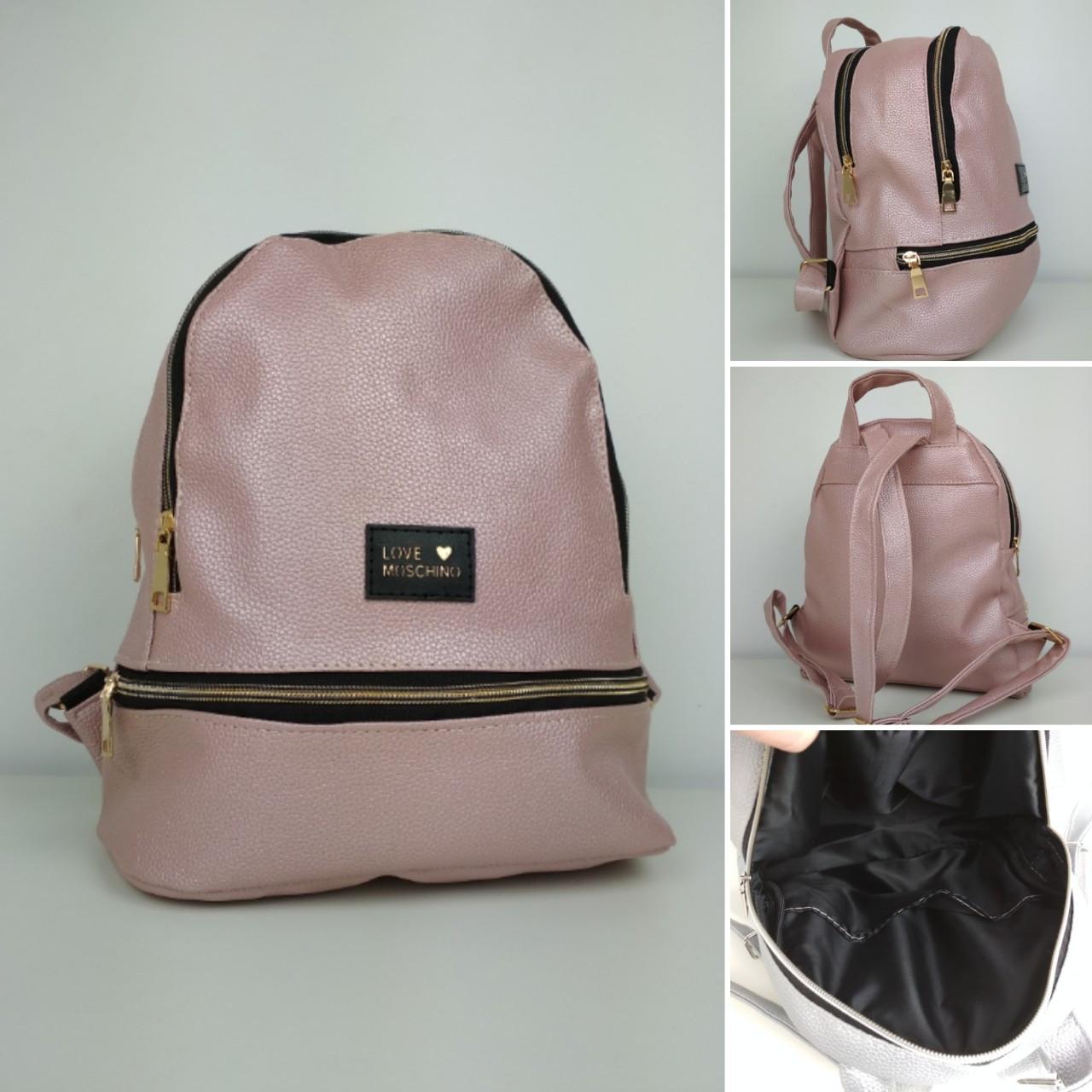 Молодежный рюкзак из кожзама для девушки 30*25*15 см