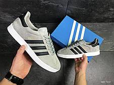Кроссовки Adidas Gazelle замшевые,серые 45р, фото 2