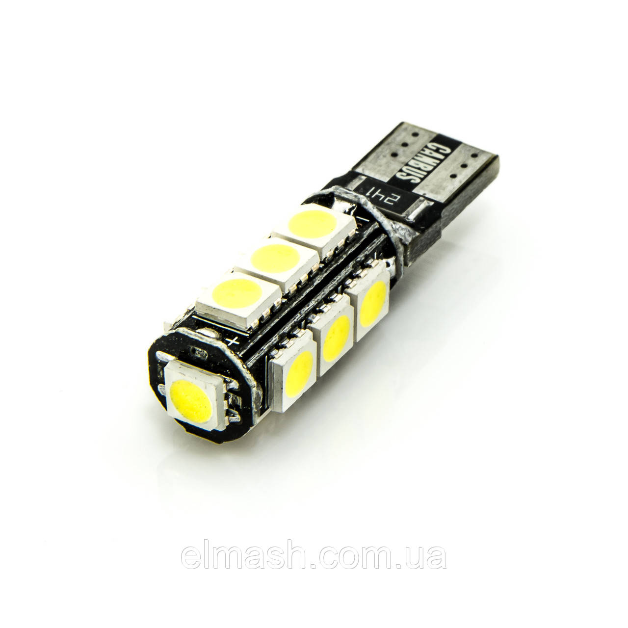 Лампа LED 12V T10 (W5W) 13SMD 5050 обманка 195Lm БЕЛЫЙ