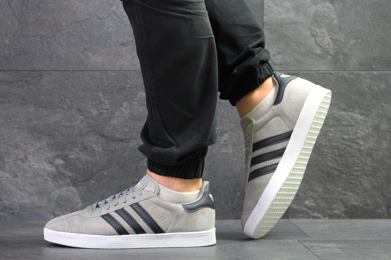 Кроссовки Adidas Gazelle замшевые,серые 45р