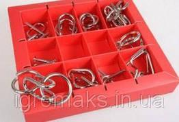 Металлическая головоломка Eureka 3D Puzzle 10 видов Красный