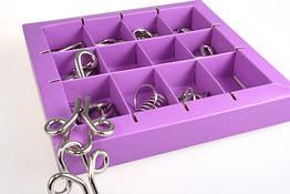 Металлическая головоломка Eureka 3D Puzzle 10 видов Фиолетовый