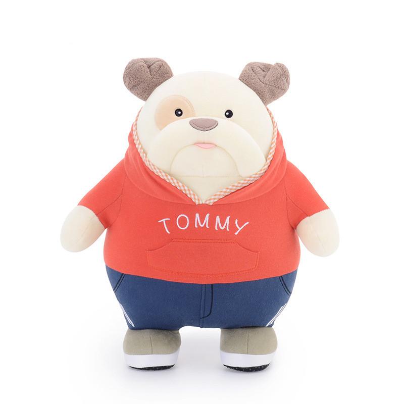 М'яка іграшка Бульдог в спортивному костюмі, 24 см