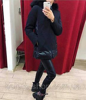 Куртка черная на синтепоне  Италия, фото 2