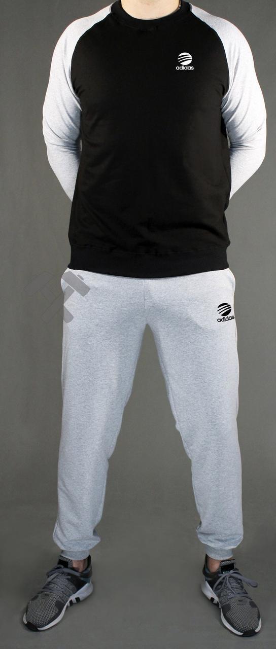 Спортивный костюм Adidas, Адидас, серо-черный (в стиле)