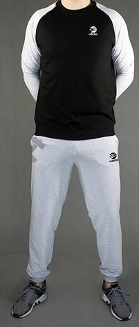 Спортивный костюм Adidas, Адидас, серо-черный (в стиле), фото 2