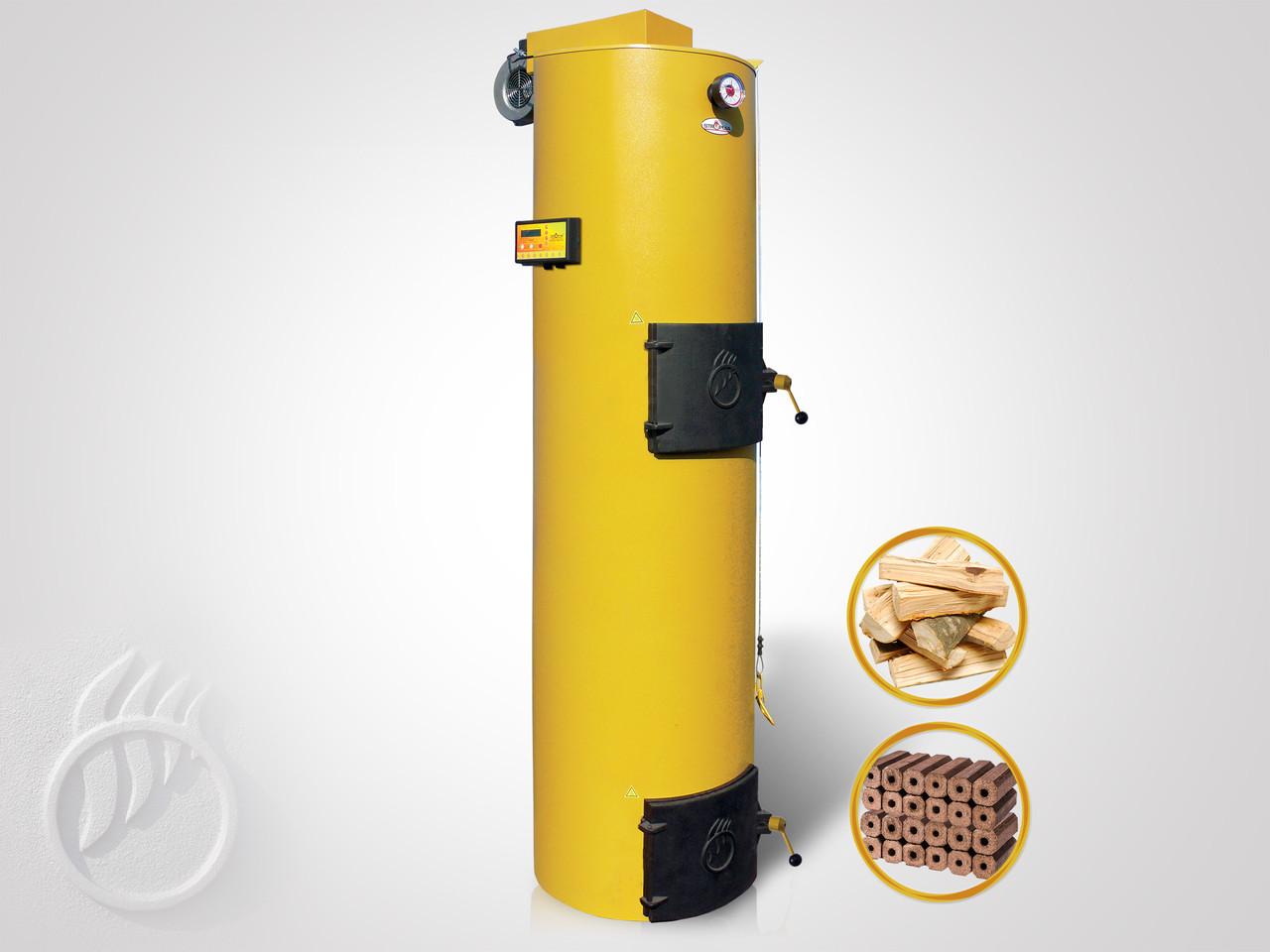 Твердотопливный котел длительного горения Stropuva S20P с автоматикой