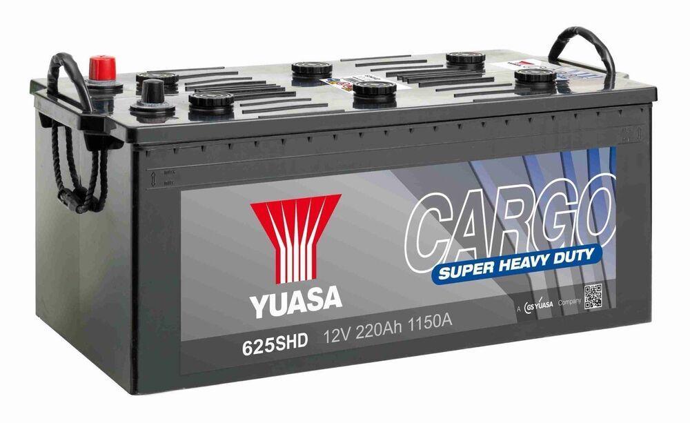 Yuasa 12V 220Ah  Cargo Super Heavy Duty Battery 625SHD