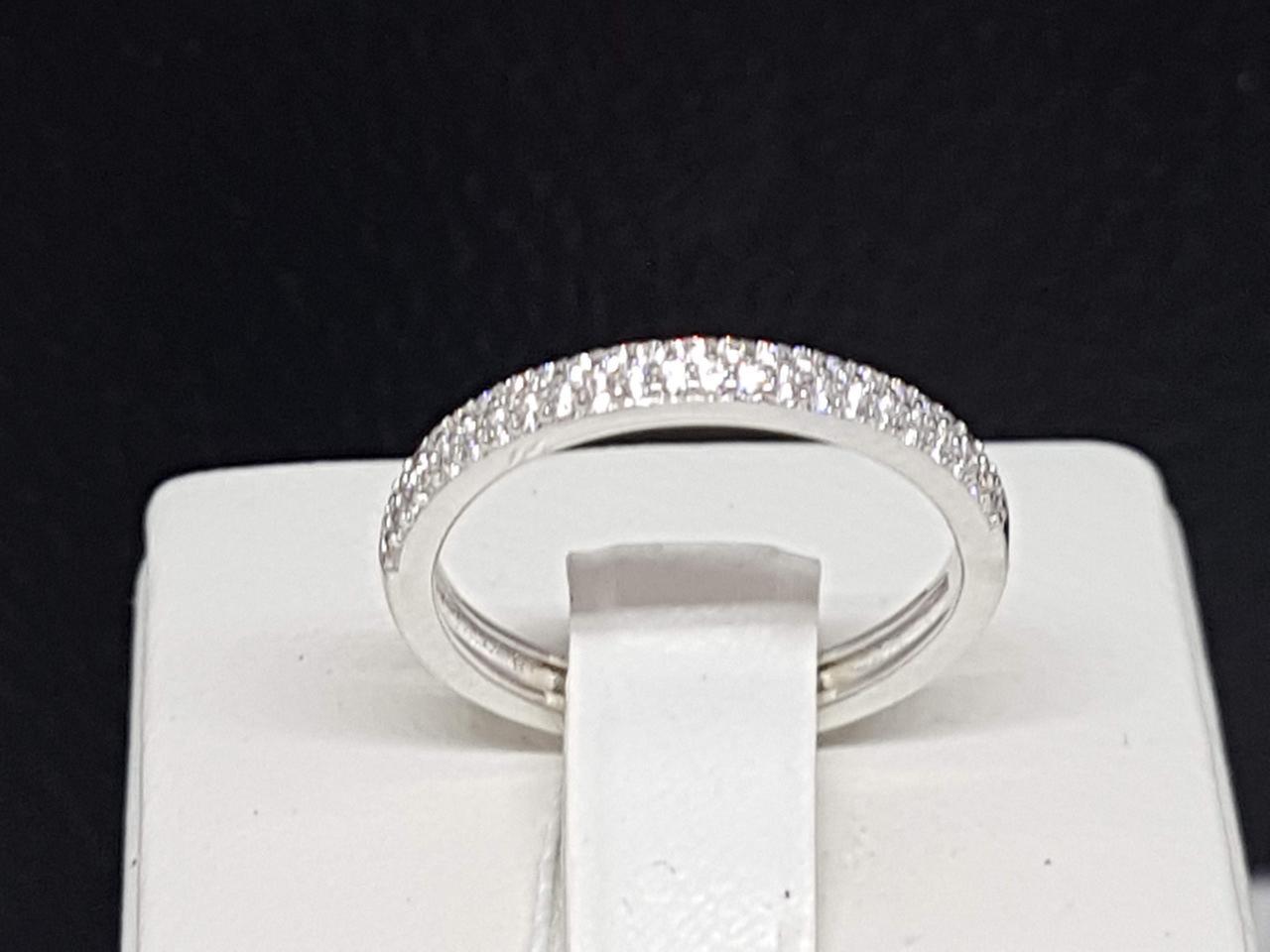 Серебряное кольцо с фианитами. Артикул КК2Ф/1155 17