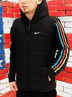 Мужской  жилет Nike  Найк  черный  (реплика), фото 1