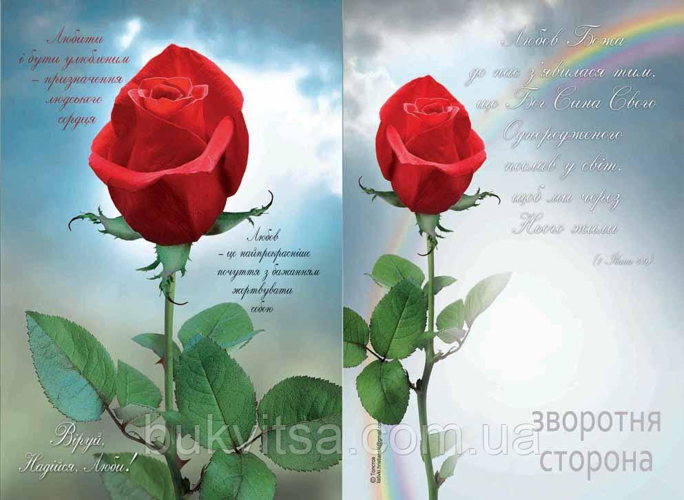 Листівка Одинарна: Любов!