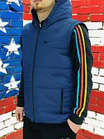 Мужской  жилет Nike  Найк синий (реплика)