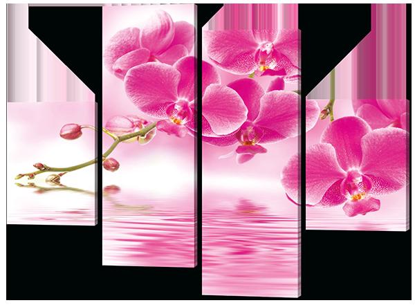 Модульная картина Interno Холст Розовая орхидея 126х93см (R358М)