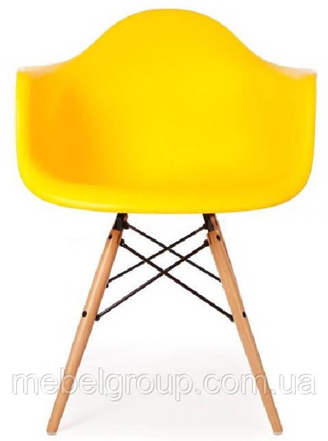 Кресло Тауэр Вуд желтое