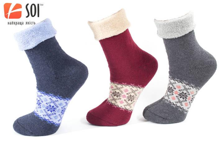 Носки махровые теплые женские 23-25 р. (36-40) * 52, фото 2