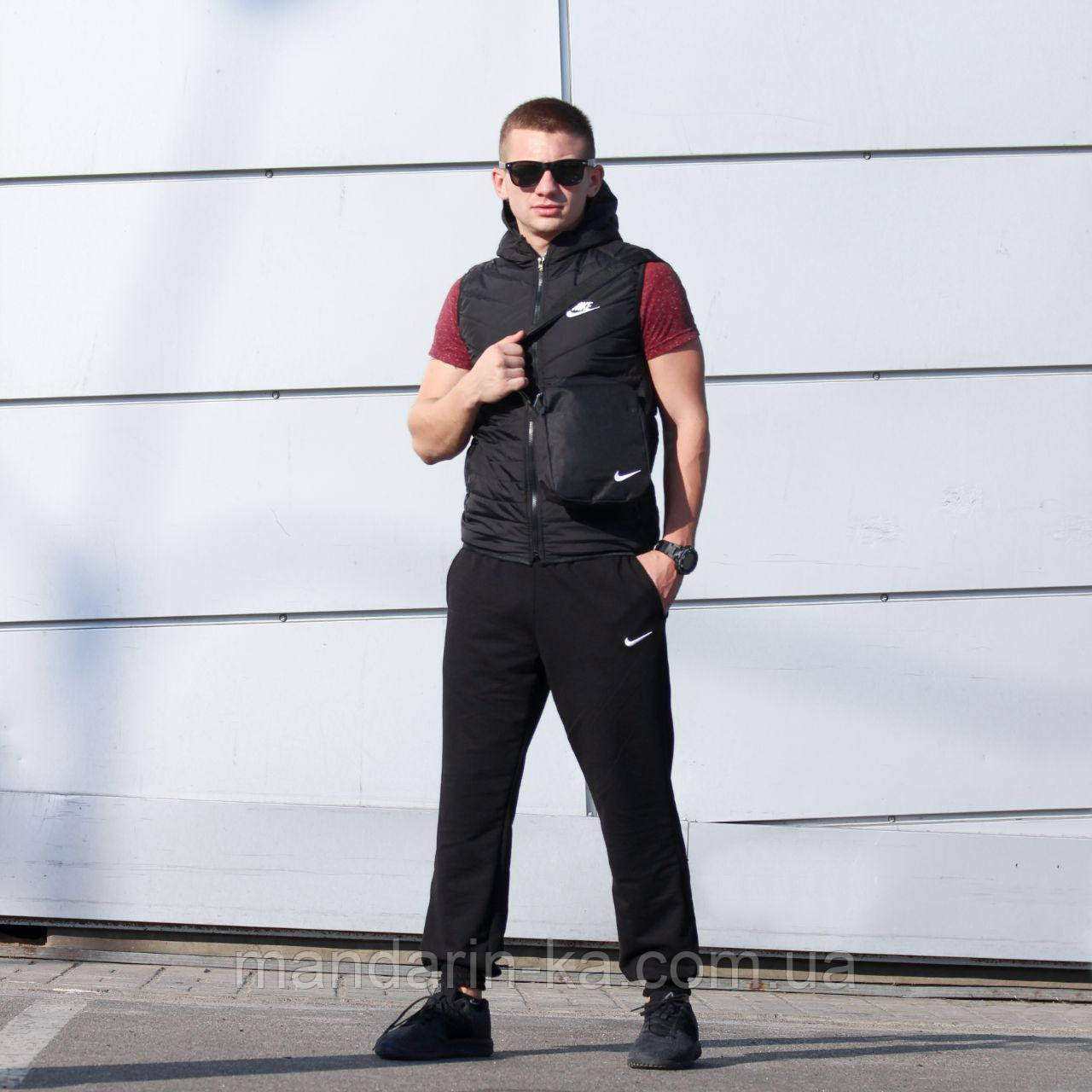 74126759 Мужской жилет Nike Найк черный (реплика), цена 599 грн., купить в ...