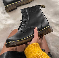 Женские зимние ботинки Dr. Martens 1460 black. Реальное фото. Топ реплика