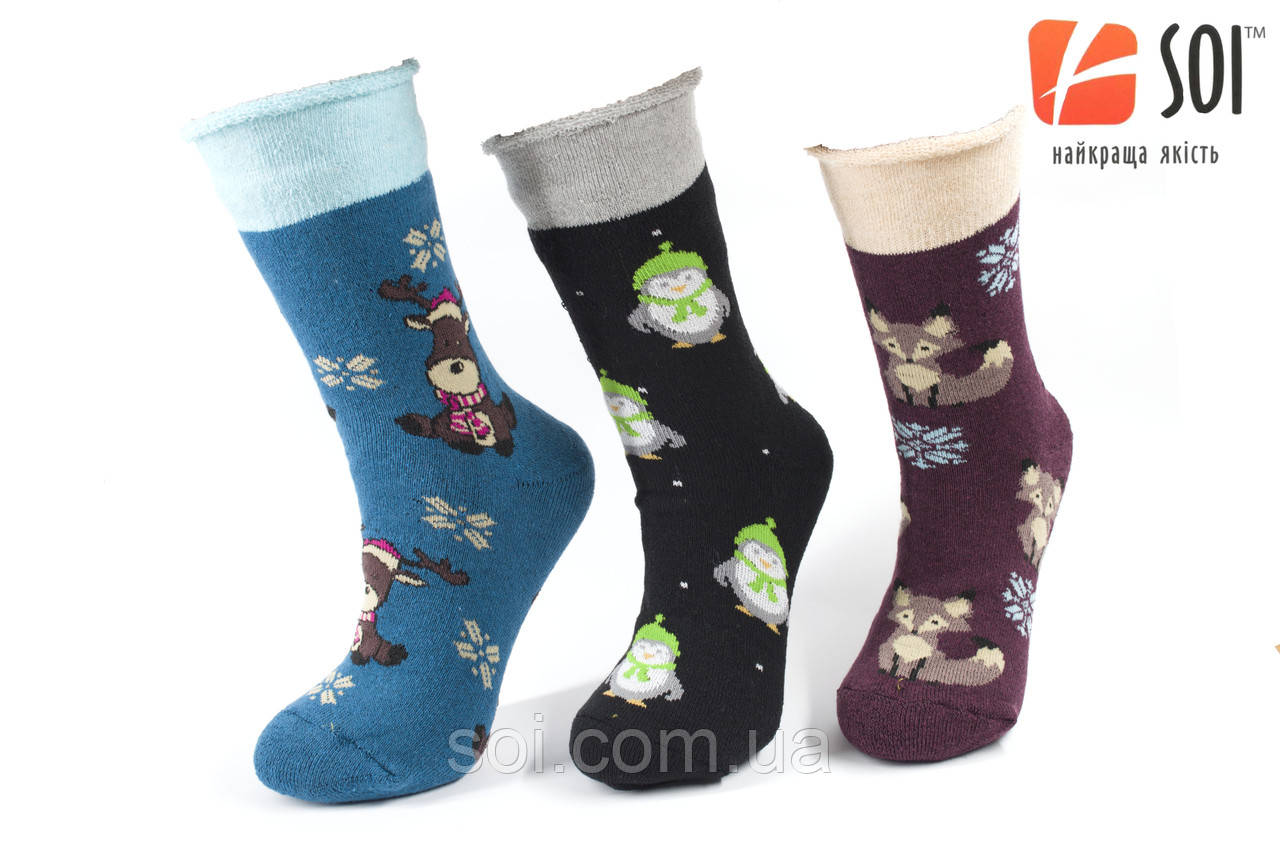 Шкарпетки махрові теплі жіночі 23-25 р. (36-40) * 39