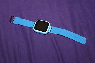 Детские смарт-часы Q80 с GPS трекером. Smart Watch  детские смарт часы синии, фото 3