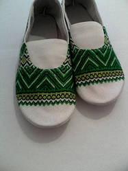 Чешки-вишиванка дитячі зелені