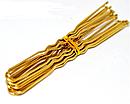 Шпильки для волос золотистые длина 6 см 50 десятков в упаковке, фото 3