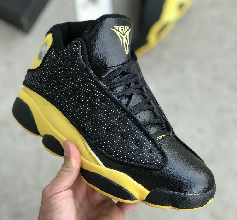 competitive price 5fbbe 227b4 Air Jordan 13 XIII Retro Melo Black Yellow | кроссовки мужские; черные /  желтые