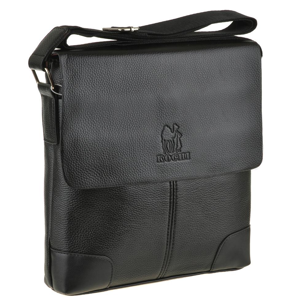 Мужская сумка мессенджер B.N.S.DAISHU 25х26х7 вертикальная спилок  м 760-2ч