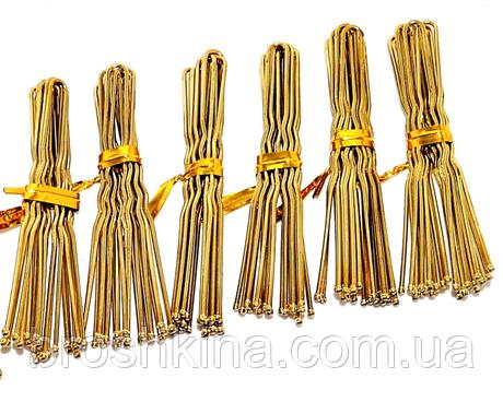 Шпильки для волос золотистые длина 6 см 50 десятков в упаковке